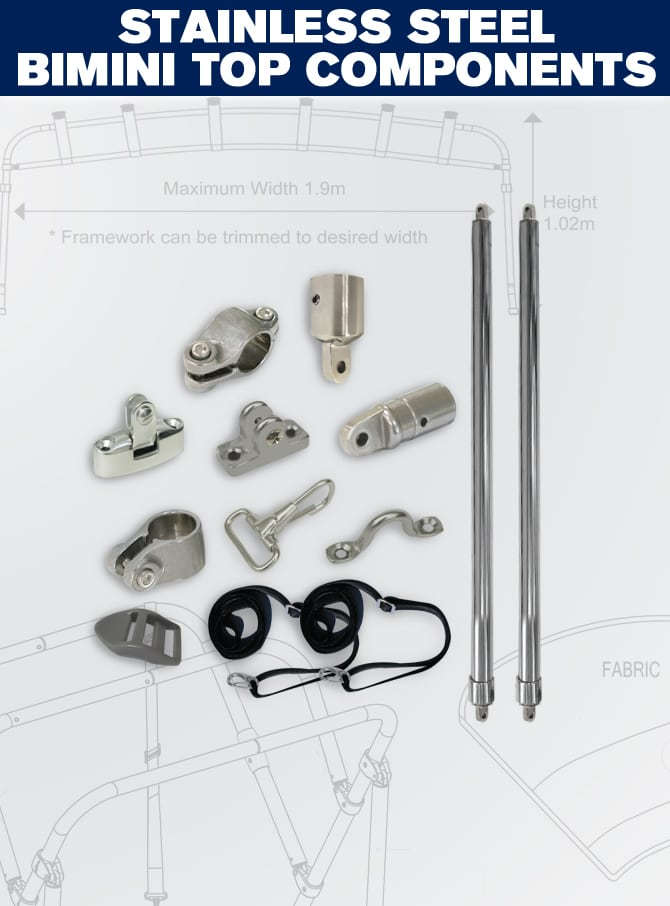 Stainless Steel Bimini Components